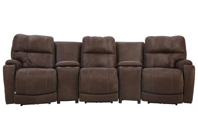 ALFIE MOCHA 5 PIECE POWER THEATER SEATING