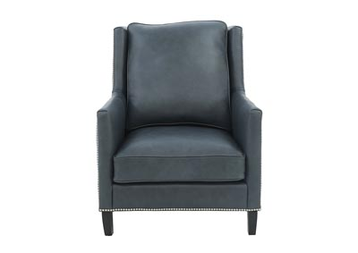 Image for CANDACE CHARCOAL LEATHER CHAIR