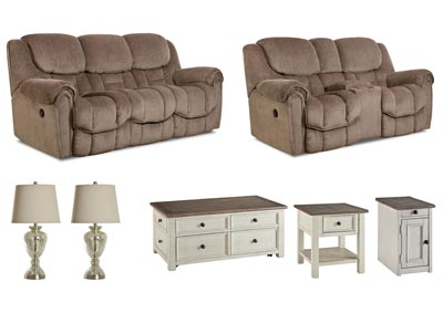 BAXTER TAUPE LIVING ROOM SET