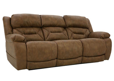 ENTERPRISE SADDLE POWER RECLINING SOFA WITH POWER HEADREST AND LUMBAR