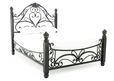 DIANA ANTIQUED BRONZE QUEEN BED