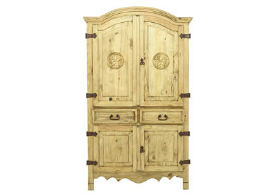 RUSTIC PINE ARMOIRE