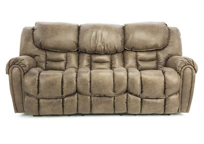Ivan Smith Baxter Mocha Power Reclining Loveseat With Console