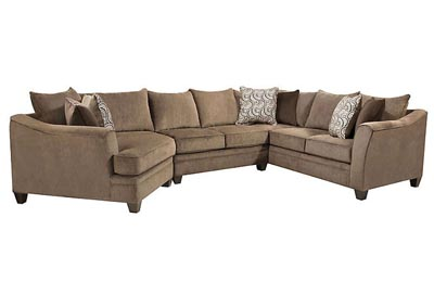 ABIGAIL ALBANY TRUFFLE 3PC SECTIONAL