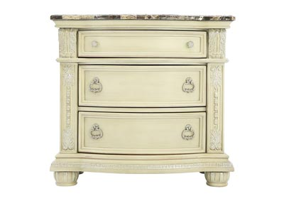 Image for STANLEY ANTIQUE WHITE NIGHTSTAND