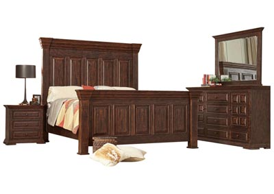 ROSLINDALE TOBACCO KING BEDROOM SET