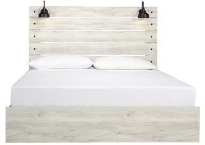 Image for CAMBECK KING PANEL BED WITH LIGHTS