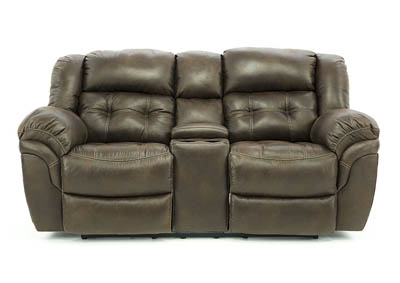 HAYGEN ESPRESSO RECLINING LOVESEAT WITH CONSOLE