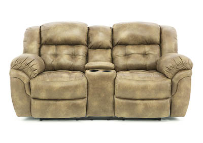 HAYGEN ALMOND POWER RECLINING LOVESEAT WITH CONSOLE