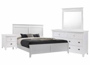SPENCER WHITE KING BEDROOM SET