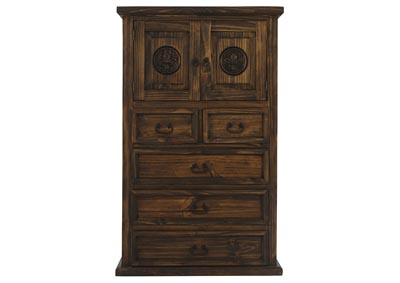 CASA ANTIQUE CHEST WITH FLEUR DE LIS