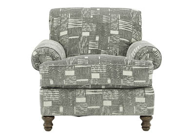 MADELYN PEWTER STARLIGHT ACCENT CHAIR