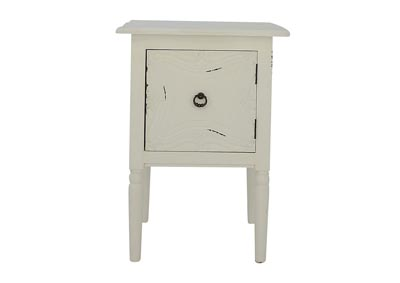 CARSON WHITE ACCENT TABLE