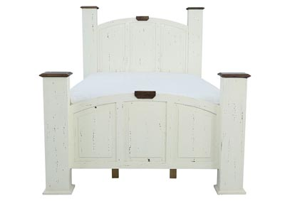 MANSION AGED WHITE QUEEN BED