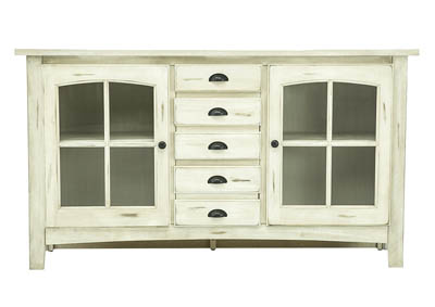YORKTOWN RUSTIC WHITE TV CONSOLE