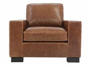 Image for CHARLEY CHOCOLATE LEATHER CHAIR