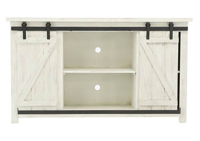 JON BARN DOOR MEDIA CHEST WHITE