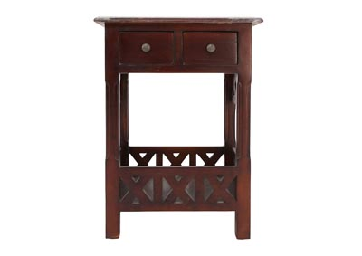 CHRISTIAN MEDIUM STAIN ACCENT  TABLE