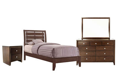 EVAN CHERRY TWIN BEDROOM SET