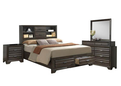 ASLINN ANTIQUE GREY QUEEN BEDROOM SET