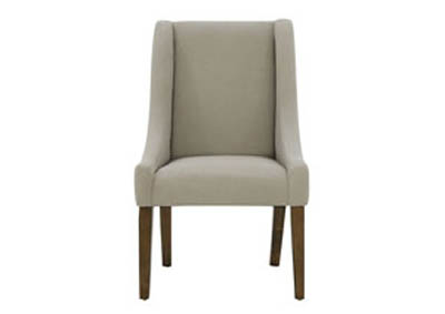 FRENCH INSPIRED DEMI-WING UPHOLSTERED FLANNEL CHAIR