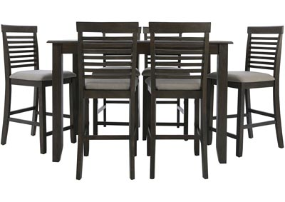 JGW COUNTER HEIGHT 7 PIECE DINING GROUP