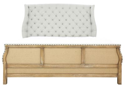 BOHEME QUEEN UPHOLSTERED BED