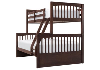 LAUREN CHOCOLATE TWIN OVER FULL BUNKBED