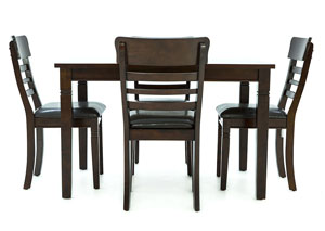 BLAINE DARK CHERRY 5 PIECE DINING SET