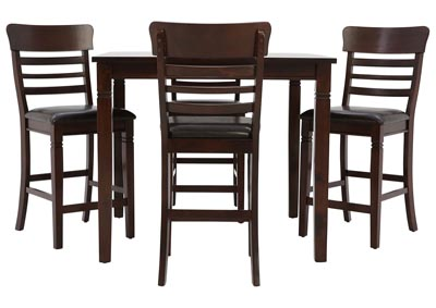 BLAINE DARK CHERRY 5 PIECE PUB SET
