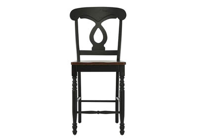 PHILLIP BLACK AND CHERRY COUNTER STOOL