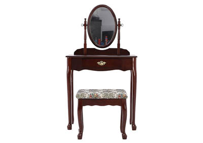 IRIS CHERRY VANITY AND STOOL