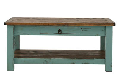 LAWMAN TURQUOISE COCKTAIL TABLE