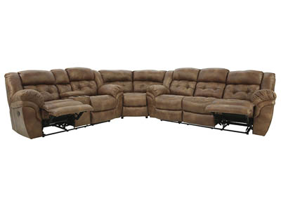 HAYGEN ALMOND 3 PIECE POWER SECTIONAL
