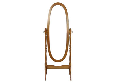 ANNE DARK OAK CHEVAL MIRROR