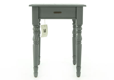 PRIMITIVE FRENCH GREY NIGHT TABLE