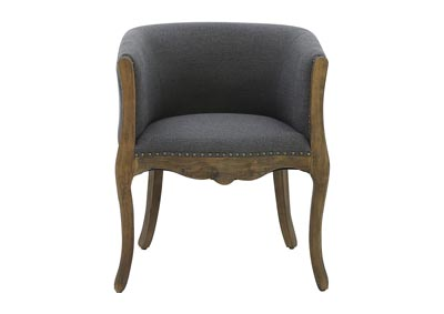 HUNTLEY GREY LINEN CLUB CHAIR