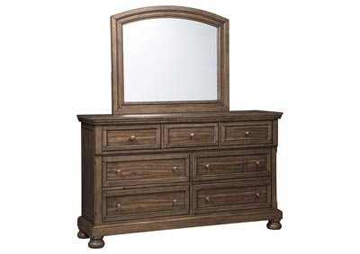 FLYNNTER DRESSER AND MIRROR