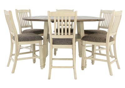 BOLANBURG 7 PIECE ROUND PUB DINING SET
