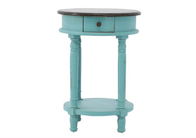 HALEY TURQUOISE ACCENT TABLE