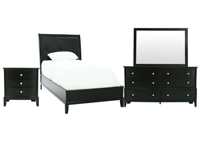 OLIVER BLACK CHERRY TWIN BEDROOM SET