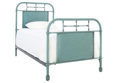 JOLENE VINTAGE BLUE TWIN BED