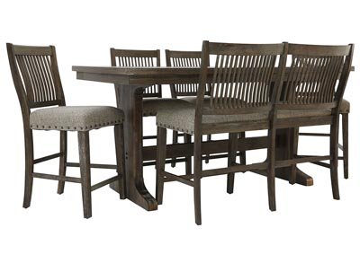 CHARLESTON II 6 PIECE COUNTER HEIGHT DINING SET