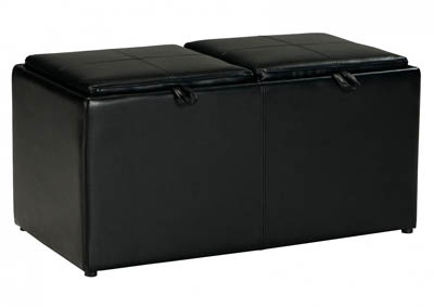 BRINDON CHARCOAL OTTOMAN WITH STORAGE