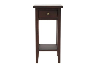 DARK STAIN ACCENT TABLE