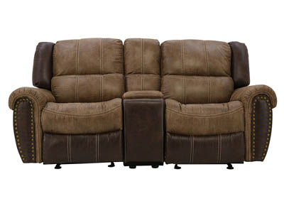 SORREL GLIDER RECLINING LOVESEAT WITH CONSOLE