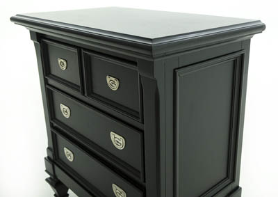 BELMA BLACK NIGHTSTAND ,HOLLAND HOUSE