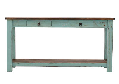 LAWMAN TURQUOISE SOFA TABLE