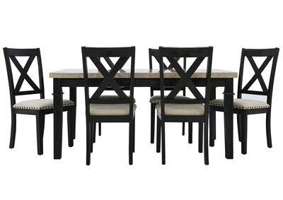 GREYSTONE 7 PIECE DINING SET