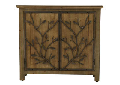 WINDCREST RUSTIC WOOD AND METAL CABINET